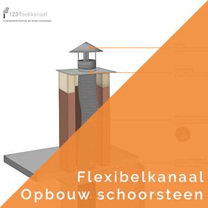 Opbouw schoorsteen flexibel kanaal